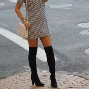 Ivanka Trump Suede Knee High Boots